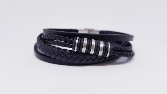 pulsera-acero-five-black